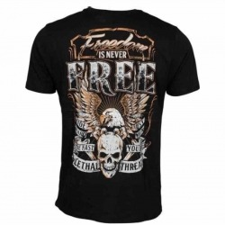 CAMISETA LETHAL THREAT FREEDOM NEGRO