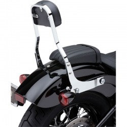 PASSENGER BACKREST COBRA ROUND DETACHABLE CHROME HARLEY DAVIDSON FLSB 18-19