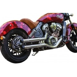 EXHAUST TAILS MAVERICK INDIAN SCOUT CHROME 15-19