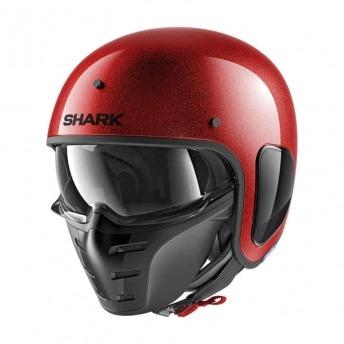 HELMET JET SHARK S-DRAK RED BRIGHT