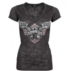 WOMEN'S T-SHIRT LETHAL ANGEL GUNS & ROSES