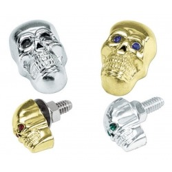 2CM CHROME SKULL SCREW (VARIOUS EYE COLORS)