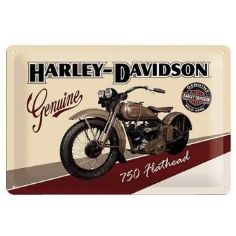 PLACA HARLEY DAVIDSON FLATHEAD 750