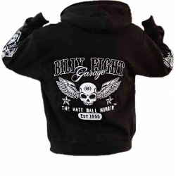 SUDADERA BILLY EIGHT GARAGE LOGO