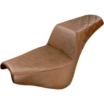 SEAT GEL SADDLEMEN STEP UP FULL LS BROWN HARLEY DAVIDSON FLSL/FXBB/FLDE/FLHC