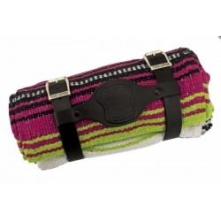 MEXICAN MANTA TEXAS LEATHER VERACRUZ PINK, GREEN APPLE AND WHITE