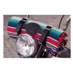 MEXICAN MANTA TEXAS LEATHER COZUMEL SARAPE RED