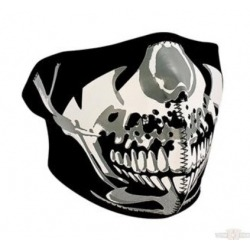CHROME SKULL NEOPRENE MASK