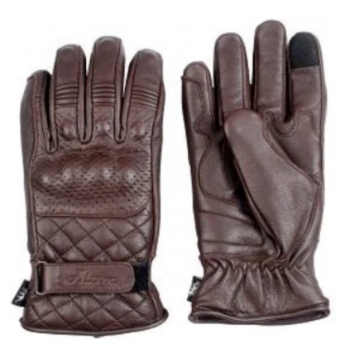 ATOM RIDERS LEATHER GLOVES DYNAMO - GARNET