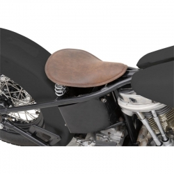 LEATHER SEAT ONLY LOW PROFILE BLACK WITH WHITE THREAD