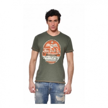 CAMISETA VON DUTCH KUSTOM GRIS