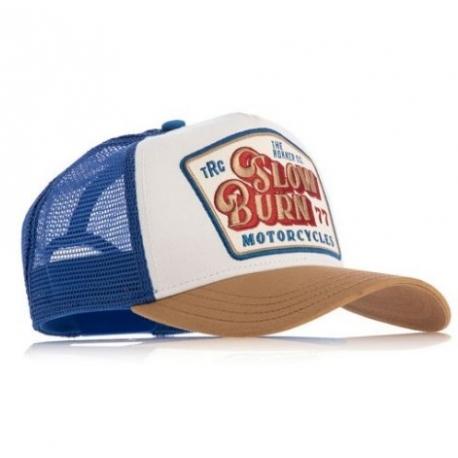 ROKKER SLOW BURN TRUCKER CAP BLUE
