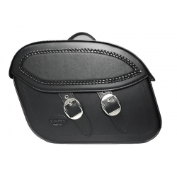 RIDER REPLIED LEATHER SADDLEBAGS WITH HARLEY DAVIDSON STREET BUCKLES