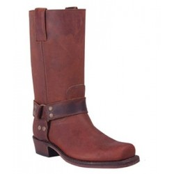 BOTAS BIKER PIEL CRAZY OLD MARRON MOD 1501-M
