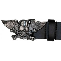 WINGED SKULL BELT BUCKLE (OUTLET)