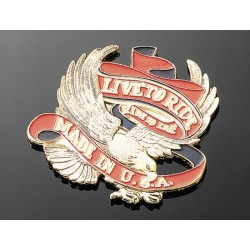 "EMBELLECEDOR EMBLEMA EAGLE ""LIVE TO RIDE USA"""