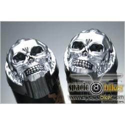 punos-piel-skull-flames-254mm