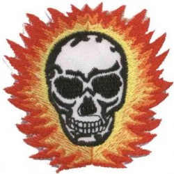 PARCHE BURNING SKULL