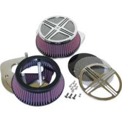 XXX BAK AIR FILTER CHROME HONDA VTX 1800 02-08